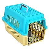 CHONGWFS Scatola di trasporto per animali domestici lavabile portatile Gatto / cucciolo Scatola di trasporto per animali domestici traspirante spaziosa (19,68 pollici * 12,36 pollici * 13,26 pollici) Adatto per spedizione di viaggi