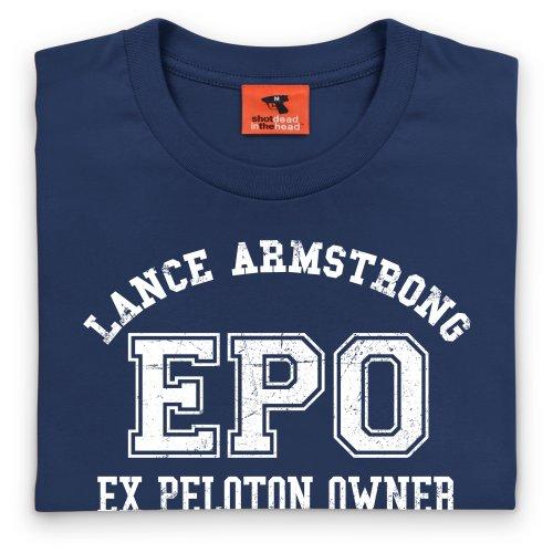 Lance Armstrong EPO T-Shirt, Herren Dunkelblau
