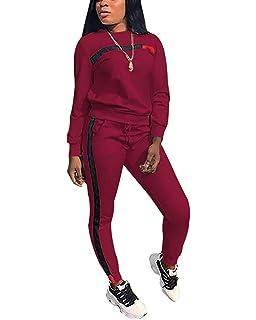 Lady Casual Long Sleeve Tracksuits Sweatshirt Pants Sport Set Slim Fit Plus Size