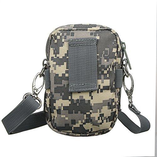 xhorizon TM taktischer Militaer-/ Nothilfe-/ medizinischer Sack (Molle), wasserdichte taktische EDC Tasche(Molle) (Huefte/ Gurt) # 3 mit USA-Flagge Magic Tape