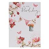 Hallmark Lucy Cromwell - Biglietto di auguri, per compleanno di lei, stile tradizionale, con brillantini
