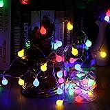 Globe Lichterkette Bunt, VegaHome 10M 100er LED Kugel Lichterkette Innen Außen 8 Modi Strombetrieben RGB Lichterkette für Weihnachten Party...