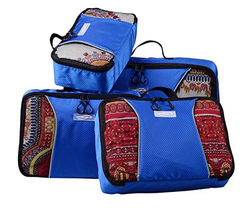 Multifunzionale borsa da viaggio, pieghevole, impermeabile, antipolvere viaggio tuta.Dimensioni: 4pezzi in 1set (29*17.5*9.5cm.35*24*9.5cm.35*24*9.5cm.45*33*10cm., Uomo, Green Blue