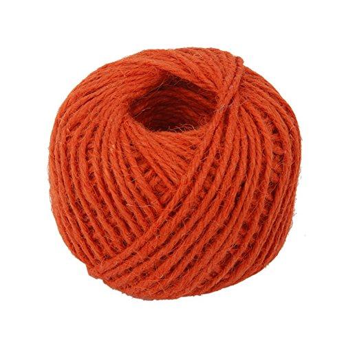 etbotu bunt Hanf Seil, umweltfreundlich Handwerk DIY Material, 2mm dick, 50/Stück Orange - Baumwoll-mohair-garn