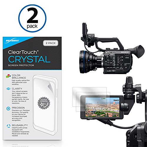 Sony PXW-FS5 Screen Protector, BoxWave® [ClearTouch Crystal (2-Pack)] HD Film Skin - Shields From Scratches for Sony PXW-FS5 -