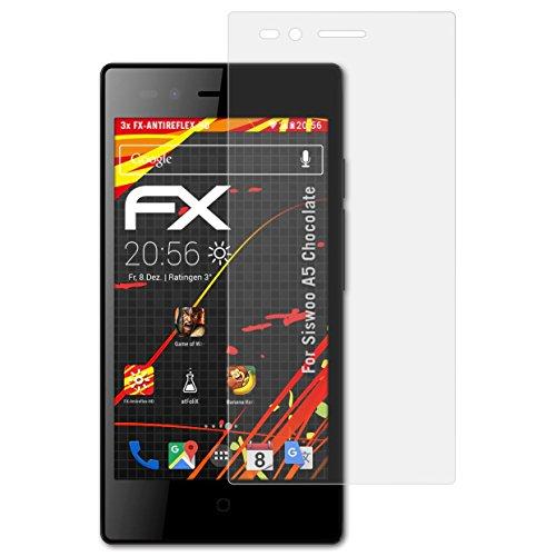 atFolix Schutzfolie kompatibel mit Siswoo A5 Chocolate Bildschirmschutzfolie, HD-Entspiegelung FX Folie (3X)