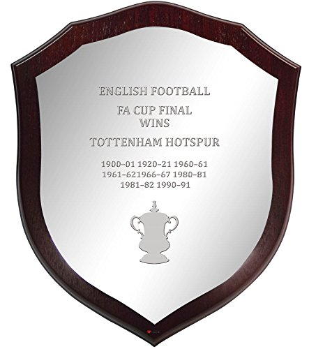 Tottenham Hotspur English FA Cup Winner Pewter Wooden Shield -