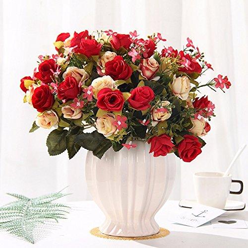 Emulation Blumen rose Seide blumentisch Blumen getrocknete Blumen Dekoration im Wohnzimmer Home Dekoration Pflanzen swing Teil 8