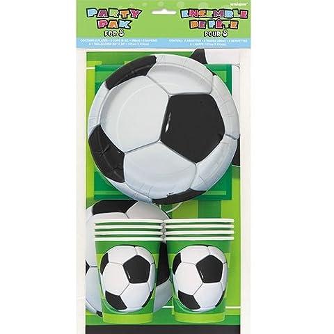 Unique Party - 27307 - Kit de Fête Football pour 8 invités