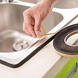 sunshineBoby Kitchen Self Sealing Klebeband Staub und wasserdicht Dichtstreifen,Silikon Tape Reparaturband, Isolierband und Dichtungsband (Schwarz)