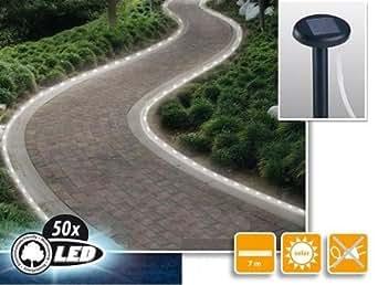 mq solar schlauch solar lichterkette 50 led solarlampe. Black Bedroom Furniture Sets. Home Design Ideas