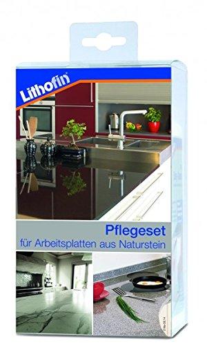 Lithofin Pflegeset Compact 800 ml - PROFESSIONELLE Reinigung und Pflege von Arbeitsplatten aus Naturstein