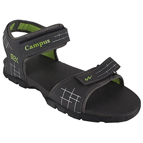 Campus Men'S Rs Series Dark Grey & Pista Green Casual Sandal (Size 8Uk)  available at amazon for Rs.424