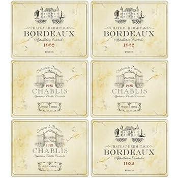 Pimpernel Ensemble de 6 sets de table Vin de France