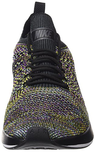 Nike Air Zoom Mariah Flyknit Racer, Chaussures De Sport Multicolores Pour Homme (blackblackvivid Purplebright Citron)