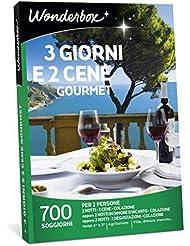WONDERBOX Cofanetto Regalo per Coppia- 3 Giorni E 2 CENE Gourmet - 700 SOGGIORNI per 2 Persone
