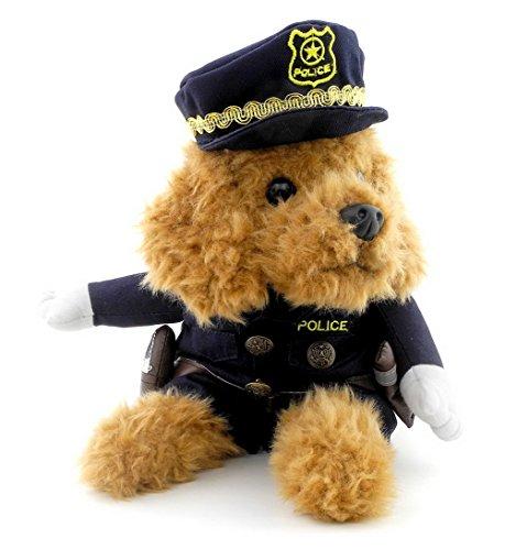 zunea kleinen Welpen unter 20kg Hund Katze Polizist Kostüm Polizei Hat (Baby Polizist Kostüme)