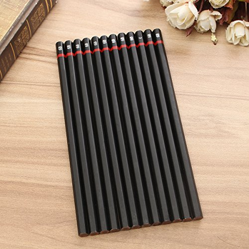 Tutoy Ungiftig Farbige Zeichnung Bleistift Büro Studenten Test Bleistift Sketch Künstler Zeichnung Stift 12 Stück Set -6B