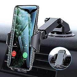 Handyhalter fürs Auto Handyhalterung 3 in 1 Universal Saugnapf Lüftung KFZ Smartphone Halterung Kratzschutz für Allen iPhone 11 XS X 8 7 6 Plus Samsung Galaxy Note10 S10+ Huawei Mate30 P30 Pro usw