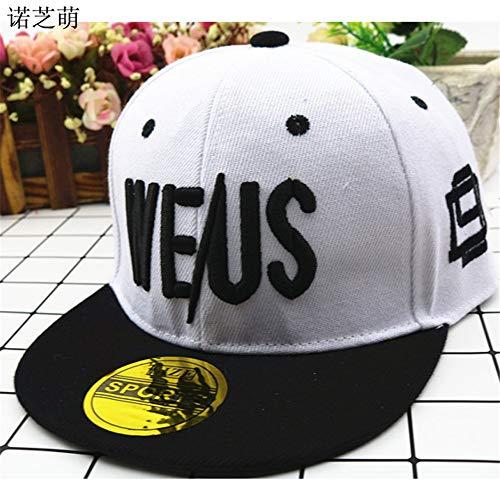 Mädchen Hip-Hop-Hüte Kinderhüte Koreanische Version der Flut Stickerei Buchstaben Hip-Hop-Baseball-Cap 1 48-56cm ()