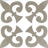 Zementfliesen Serie Via Gallicia, Musterfliese | Historischer Baustoff, Antik | Floral moosgrau | 20 x 20cm