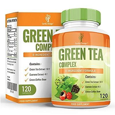 Extrait de Thé Vert, Café Vert et Guarana - 1000mg - Complexe avec 15% d'EGCG de Plus que les Autres Marques - Complément à Dosage Maximum pour Hommes et Femmes - 120 Capsules (2 Mois de Stock)