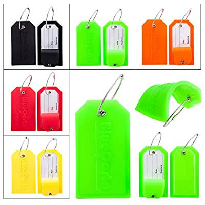 CSTOM 2x Luggage Tags Large Suitcase Labels Bag Travel Accessories 5 Color