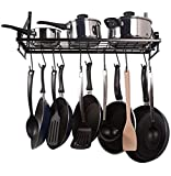 #4: Geo fashion Indian Starline Kitchen Multipurpose Pot and pan Rack with 10 Hooks