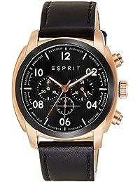 ESPRIT Herren-Armbanduhr Donton Analog Quarz Leder ES107551004