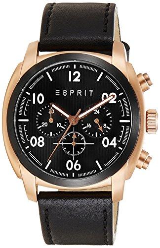 esprit-herren-armbanduhr-donton-analog-quarz-leder-es107551004