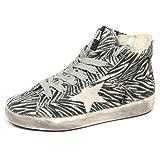 Golden Goose E8364 Sneaker Bimba Girl Francy White/Black Tissue Vintage Shoe [31]