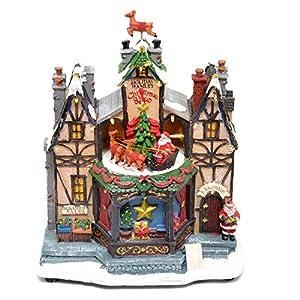Gifts 4 All Occasions Limited SHATCHI-839 - Juego de decoración navideña para el hogar con luces LED