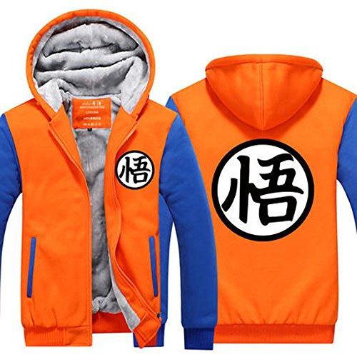 Dragonball Z Son Goku Cosplay Hoodie Winterjacke Verdickte Kapuzenjacke Sweatjacke Reißverschluss warm bequem ()