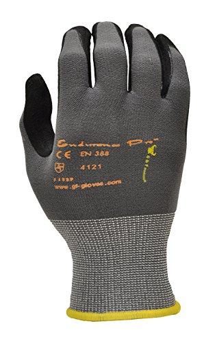 ATG 34-874/XL Maxiflex Ultimate-Nylon, Nitrilhandschuhe, Mikroschaum Grip Handschuhe-Schwarz/Grau-X-Large-12Paar pro Pack -