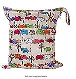 Borsa per pannolini, iSuper riutilizzabile borsa per pannolini Wipes Organiser Baby pannolino impermeabile sacchetto con doppia cerniera scomparti, Beige