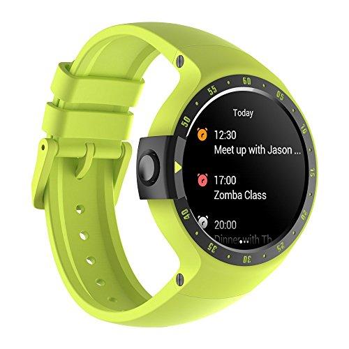 Preisvergleich Produktbild Ticwatch S Aurora Smartwatch Intelligente Armbanduhr mit 1, 4 Zoll OLED-Display,  Android Wear 2.0,  Sportuhr Hochwertig Kompatibel mit Android und ios Geeignet für Die Meisten Typen von Smartphone