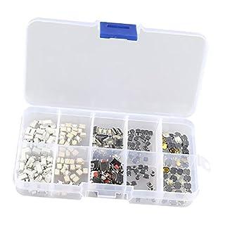 Homyl 200 Stücke 10 Typ Taktile Druckschalter Mikro Momentary Tact Sortiment Kit