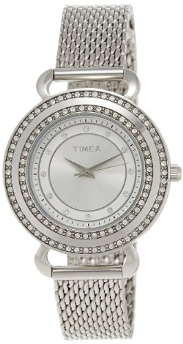 Timex Fashion Analog Silver Dial Women's Watch - T2P231 image