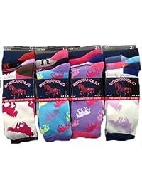59d0e86e0 6 Pairs of Ladies Socks Womens Socks Girls Beautiful Soft Horse Print  Colourful Design Socks UK