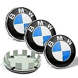 BMW 4x 60mm Auto Emblem Badge Aufkleber Radkappen Mitte, blau