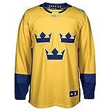 Team Sweden 2016 World Cup of Hockey Adidas Men's Premier Yellow Jersey Trikot