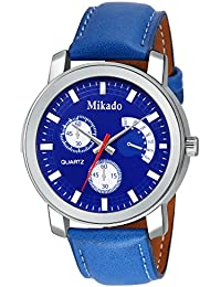 Mikado New Blue Dial Fashion Casual Analog Watch For Men And Boys