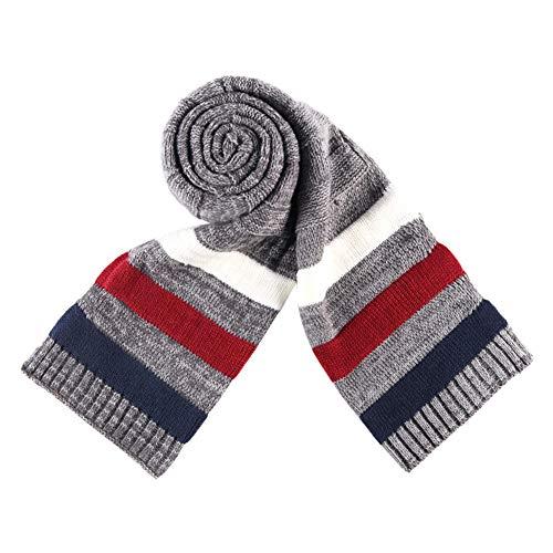 Gysad Multicolor Bufandas invierno Cálido y cómodo Bufandas hombre Lana Bufanda hombre Regalo creativo size 195 * 32 cm (C)
