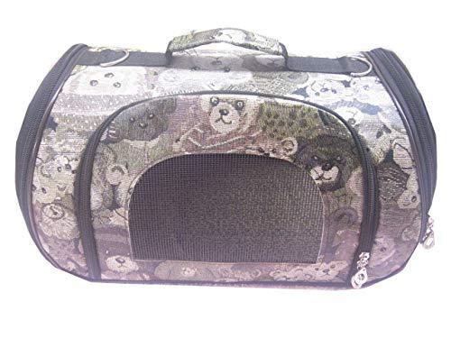 FZKJJXJL Pet Luxury Soft-Sided Cat Carrier Tragbare Hundehütte Für Katzen Kleine Hunde Und Welpen,Green-M -