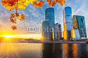 "Poster-Bild 50 x 30 cm: ""Moscow City"", Bild auf Poster"