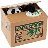 Onerbuy Novedad Face Bank Moneda Comer Banco de Ahorros Niños Ahorro de dinero Colección Piggy Bank (Panda)