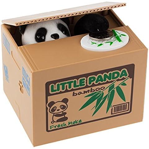 LemonBest® Penny Panda Steal Coin Hucha de ahorro de dinero, Hucha Coin Box