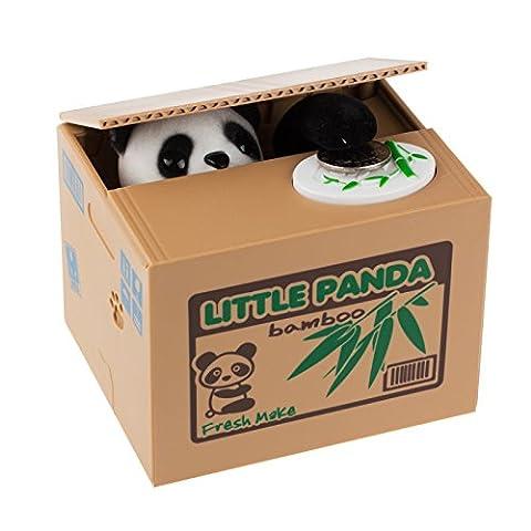 Onerbuy Stealing Coin Panda Piggy Bank Cute Coin Bank Collection d'économies d'argent Box Cents Penny Container, Nouveauté Gifts for Kids