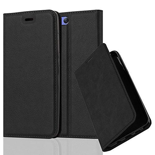 Cadorabo Hülle für Xiaomi Mi 6 - Hülle in Nacht SCHWARZ – Handyhülle mit Magnetverschluss, Standfunktion und Kartenfach - Case Cover Schutzhülle Etui Tasche Book Klapp Style