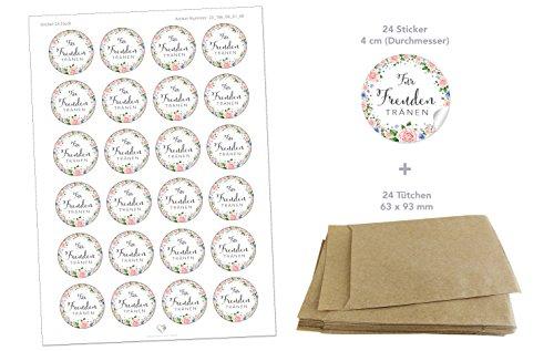 Freudentränen Set | 48 Sticker & Flachbeutel - 2